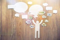 Concepto de la comunicación de Internet Foto de archivo