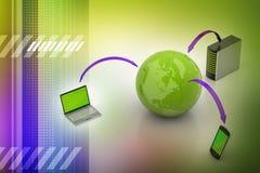 Concepto de la comunicación de la red global y de Internet libre illustration