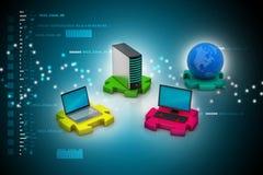 Concepto de la comunicación de la red y del Internet Fotografía de archivo libre de regalías