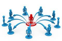 Concepto de la comunicación empresarial Imagen de archivo