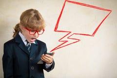 Concepto de la comunicación empresarial Foto de archivo libre de regalías