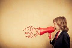 Concepto de la comunicación empresarial fotografía de archivo
