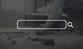 Concepto de la comunicación empresarial de la muestra del espacio en blanco de la bandera del anuncio imagenes de archivo