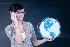 Concepto de la comunicación global Imagen de archivo