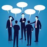 Concepto de la comunicación global del negocio Discurso de los hombres de negocios Vec libre illustration