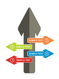Concepto de la comunicación, plantilla con las flechas Imagen de archivo