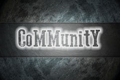 Concepto de la comunidad ilustración del vector