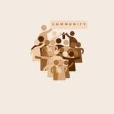Concepto de la comunidad stock de ilustración