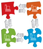 Concepto de la conexión Imagen de archivo libre de regalías