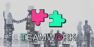 Concepto de la conexión de la colaboración de Alliance del trabajo en equipo foto de archivo libre de regalías
