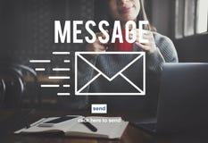 Concepto de la conexión de la información del informe de la comunicación del mensaje fotos de archivo