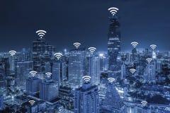 Concepto de la conexión de red de Wifi Fotos de archivo libres de regalías