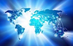 Concepto de la conexión de red global Imagen de archivo
