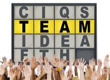 Concepto de la conexión de Team Puzzle Problem Solving Corporate Foto de archivo