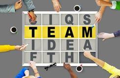 Concepto de la conexión de Team Puzzle Problem Solving Corporate Imágenes de archivo libres de regalías
