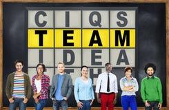 Concepto de la conexión de Team Puzzle Problem Solving Corporate Fotos de archivo