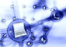 Concepto de la conexión del ordenador libre illustration