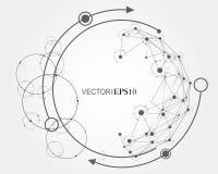 Concepto de la conexión Fondo geométrico para el negocio o la ciencia Foto de archivo libre de regalías