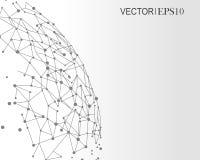 Concepto de la conexión Fondo geométrico para la presentación del negocio o de la ciencia Imagenes de archivo