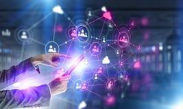 Concepto de la conexión inalámbrica y de la nueva tecnología Técnicas mixtas Técnicas mixtas Imagen de archivo libre de regalías
