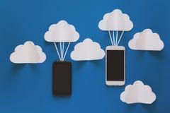 Concepto de la conexión de red y de la tecnología de almacenamiento de la nube Concepto de la red de las comunicaciones de datos  Imagen de archivo libre de regalías