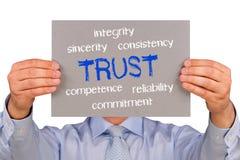 Concepto de la confianza Imagen de archivo libre de regalías