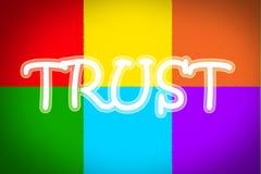Concepto de la confianza Imagen de archivo