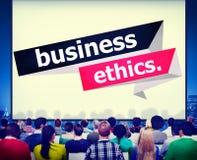 Concepto de la confianza de la honradez de la integridad de la ética empresarial Imagenes de archivo