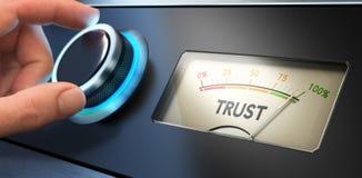 Concepto de la confianza en negocio