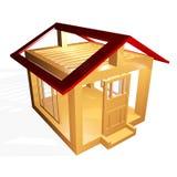Concepto de la construcción de la casa Foto de archivo libre de regalías