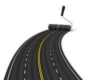 Concepto de la construcción de carreteras Imagen de archivo libre de regalías
