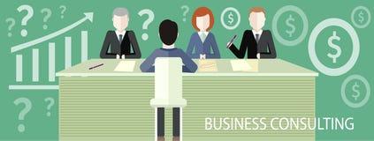 Concepto de la consultoría de negocios stock de ilustración