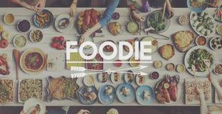 Concepto de la consumición de la comida de la comida de la comida fría del menú Fotografía de archivo