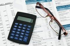 Concepto de la contabilidad financiera Imagen de archivo libre de regalías