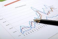 Concepto de la contabilidad financiera Fotografía de archivo libre de regalías