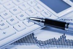 Concepto de la contabilidad financiera Imagen de archivo