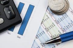Concepto de la contabilidad, financiero y del negocio Imágenes de archivo libres de regalías