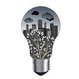 Concepto de la contaminación stock de ilustración