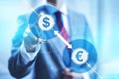 Concepto de la conversión de moneda stock de ilustración