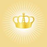 Concepto de la corona del oro ilustración del vector
