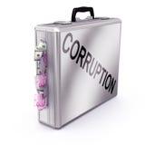 Concepto de la corrupción Fotografía de archivo libre de regalías