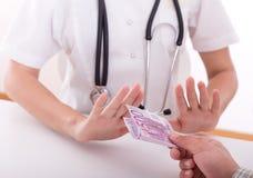 Concepto de la corrupción en medicina Imágenes de archivo libres de regalías