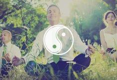 Concepto de la cría de Yin Yang Balance Contrast Opposite Religion Foto de archivo libre de regalías
