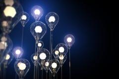 concepto de la creatividad de la idea de las bombillas Fotos de archivo