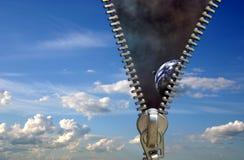 Concepto de la cremallera Fotografía de archivo libre de regalías