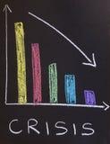 Concepto de la crisis Foto de archivo