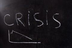 Concepto de la crisis Imágenes de archivo libres de regalías