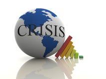 Concepto de la crisis Foto de archivo libre de regalías