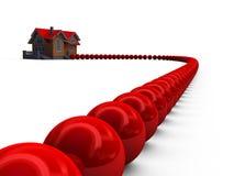 Concepto de la crisis de la hipoteca de Subprime Imagen de archivo libre de regalías