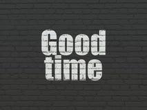 Concepto de la cronología: Buen tiempo en fondo de la pared ilustración del vector